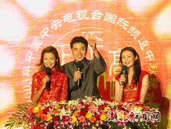 中央电视台主持人张政,朱迅,湖北电视台主持人官琳,以及台湾的黄安图片