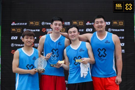 武汉站3X3篮球赛冠军:洪馆队