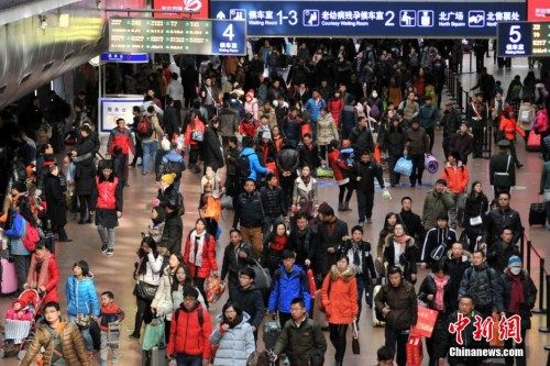 资料图:2016年春运期间的北京西站 金硕 摄
