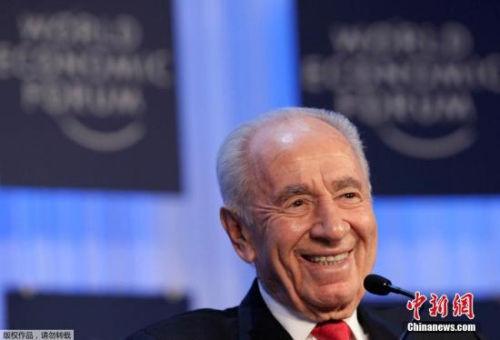 当地时间9月28日,以色列前总统佩雷斯因病去世,享年93岁。图为2013年1月24日,佩雷斯在达沃斯的照片。