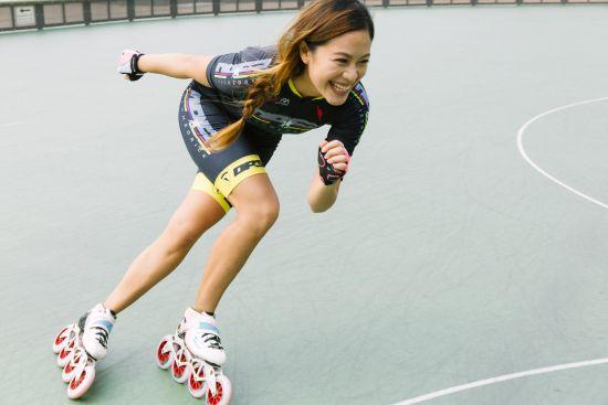 香港轮滑女神angie wong