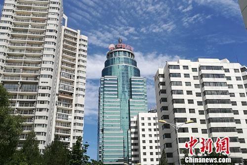 北京市亚运村北辰附近某小区楼外景。中新网 程春雨 摄