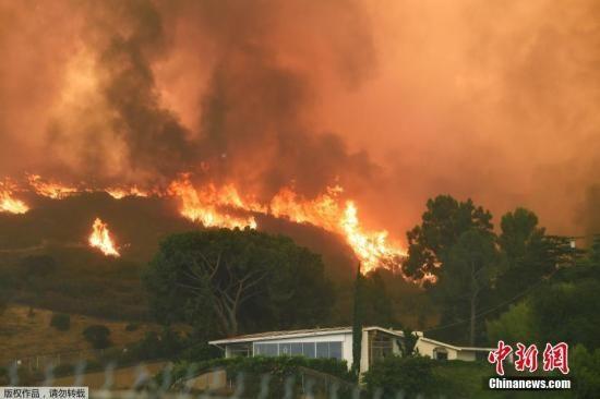由于连日高温,自9月2日开始,美国加州洛杉矶周围地区出现山火而且疯狂蔓延,形成洛杉矶有史以来最大的野火,洛杉矶宣布进入紧急状态,目前尚未有人员伤亡报告。