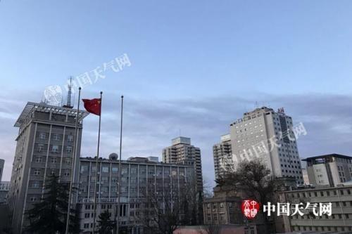 今晨,北京风力较大。