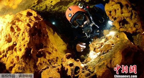 北京赛车玩法论坛:墨西哥现世界最大水下洞穴_或解密玛雅文明
