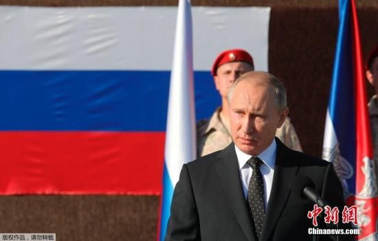 资料图:当地时间2017年12月11日,俄罗斯总统普京在叙利亚赫梅明空军基地宣布,俄开始从叙利亚撤军。
