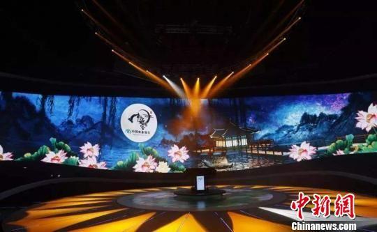 图为《中国诗词大会》(第三季)演播室录制现场。主办方 供图