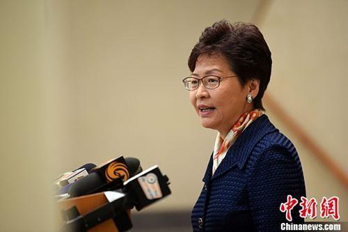 资料图片:香港特区行政长官林郑月娥。