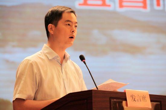 五峰县委常委、宣传部长王巍发言 钟欣 摄
