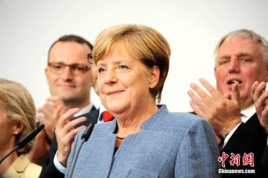 资料图片:德国总理默克尔。
