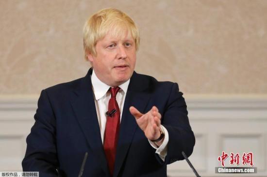 资料图:英国外交大臣鲍里斯・约翰逊也宣布辞职。