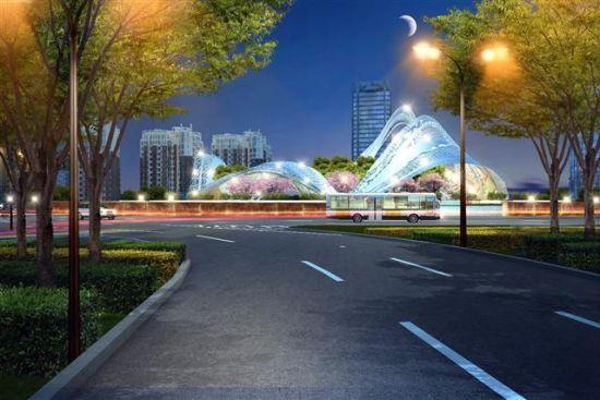 """急速赛车规律怎么找:武汉光谷广场景观设计方案出炉_""""风帆""""变""""星河"""""""