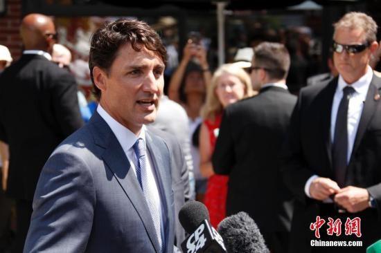 资料图:加拿大总理贾斯廷・特鲁多。 中新社记者 余瑞冬 摄