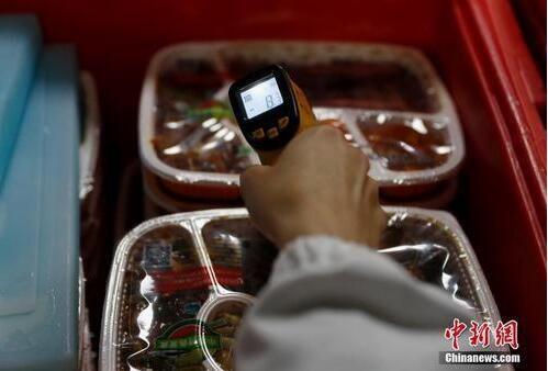 探访北京高铁盒饭生产配送基地。中新社记者 刘关关 摄