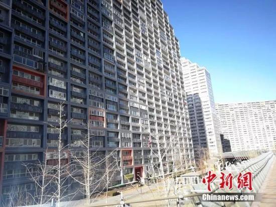 2018年12月,北京像素小区,楼房窗户密密麻麻。中新网 记者 邱宇摄