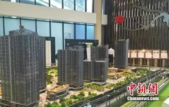 北京房山区某商改住楼盘销售中心。中新网 种卿 摄