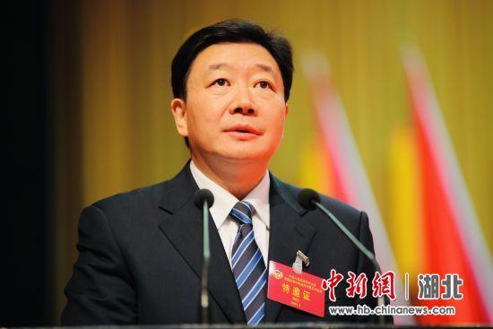 中共宜昌市委书记周霁代表中共宜昌市委向大会致辞 中新社刘良伟摄