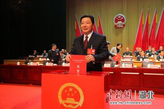 宜昌市委书记周霁投票 中新社刘良伟 摄