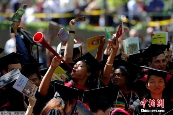 资料图片:哈佛大学毕业典礼。