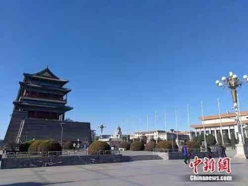 资料图:北京蓝天。 张尼 摄