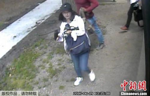 资料图片:章莹颖最后一次出现在监控录像中。