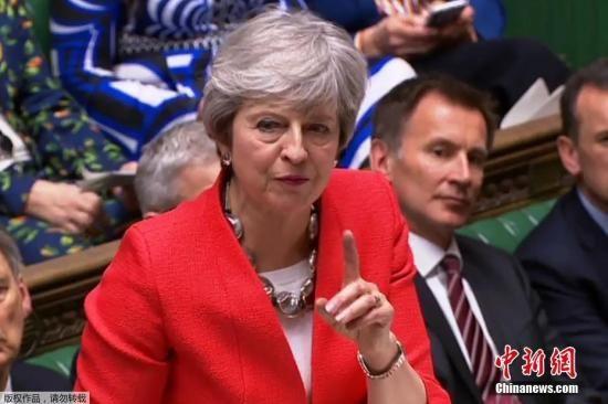 """资料图:当地时间3月12日晚,特蕾莎・梅的脱欧协议在议会下议院的投票中再遭否决,她在二次投票结果公布后坚持,这一协议是""""唯一的也是最好的协议""""。"""