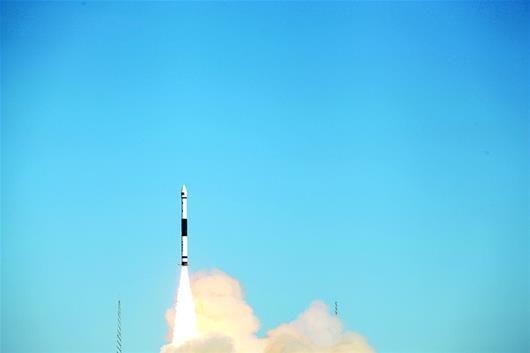 图为:2018年9月29日,快舟一号甲火箭成功完成第二次商业发射。 (资料图片)