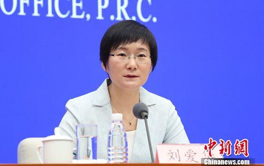5月15日,国新办举行新闻发布会,国家统计局新闻发言人刘爱华介绍2019年4月份国民经济运行情况,并答记者问。中新社记者 杨可佳 摄