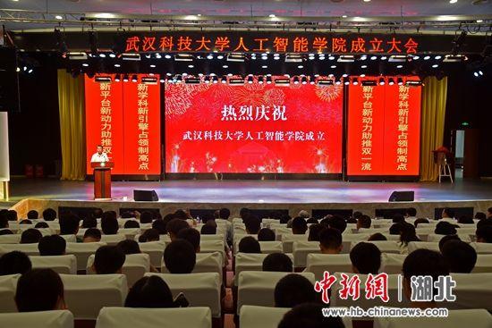 武漢科技大學人工智能學院成立大會 (攝影 方斌)