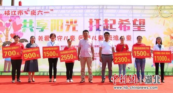 枝江市举行关爱特殊群体儿童活动