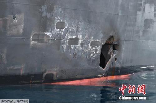 """资料图:当地时间6月13日,阿曼湾两艘油轮遭到攻击,美国政府指控这起攻击是""""德黑兰当局所为"""",美伊两国关系陷入高度紧张,伊朗政府则断然否认美方指控。"""