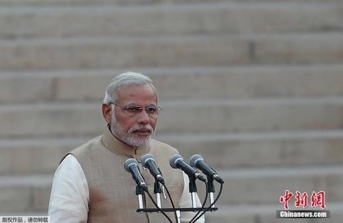资料图:印度总统莫迪。