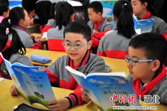 """夷陵""""生态小公民""""教育助力长江大保护 张国荣摄"""