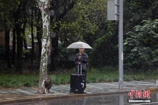 资料图:持续下雨,给市民出行带来了一定影响。殷立勤 摄