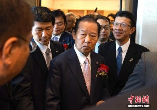 资料图:日本自民党干事长二阶俊博 中新社 侯宇 摄