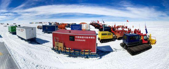 浩浩荡荡的内陆队在出发基地整装待发。中国极地研究中心 李航 摄
