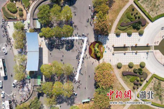 """武汉动物园""""动物联欢会""""鸟瞰图 杨锡晨 摄"""