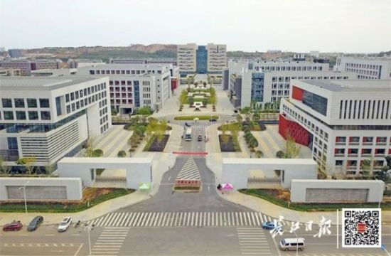 中国地质大学(武汉)新校区,位于武汉未来科技城东部。通讯员潘海亮 雷咚咚 供图