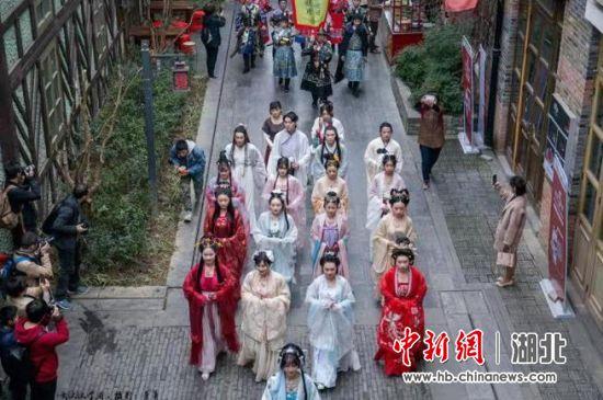 武汉园博园举办的汉服活动(资料图)