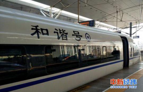 资料图:和谐号列车。中新经纬 熊家丽摄