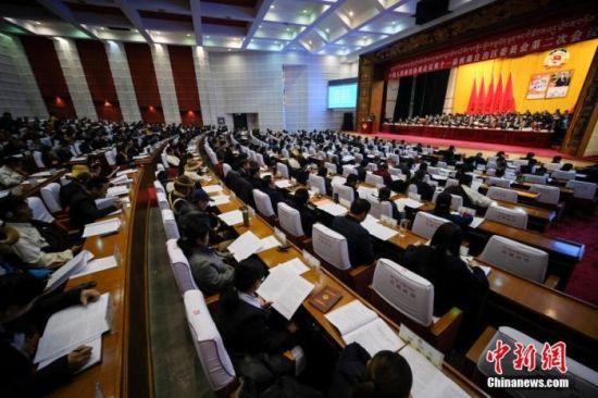 资料图:2019年1月9日,中国人民政治协商会议第十一届西藏自治区委员会第二次会议在拉萨开幕。中新社记者 何蓬磊 摄