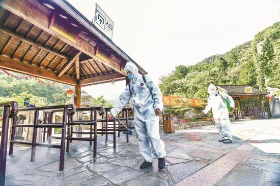 黄陂木兰天池在消毒杀菌