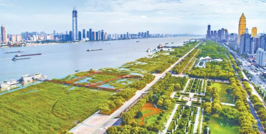 武汉:昔日9处干堤险段 今朝变身城市公园