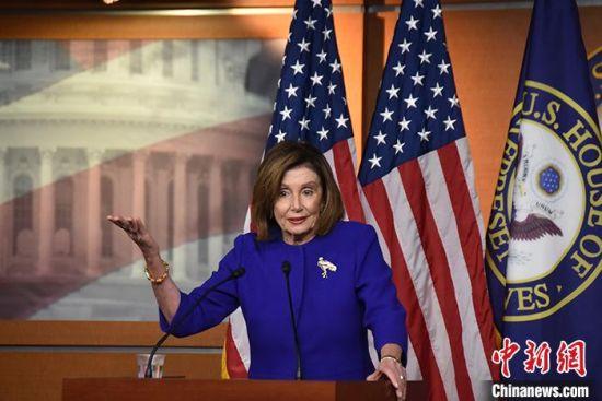 资料图:美国众议院议长佩洛西。 中新社记者 沙晗汀 摄