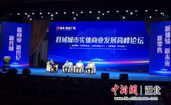 """襄阳谷城县举办""""县域城市实体商业发展高峰论坛"""""""
