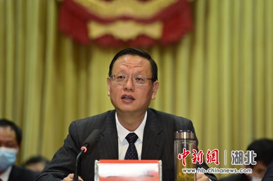 枝江市委书记贾立致辞 刘康 摄