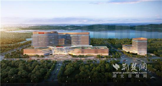 武汉市中心医院杨春湖院区效果图 。通讯员供图