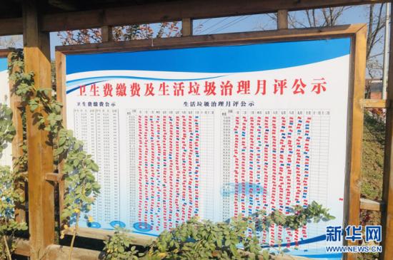 村民自治公示栏 新华网 夏国燕 摄