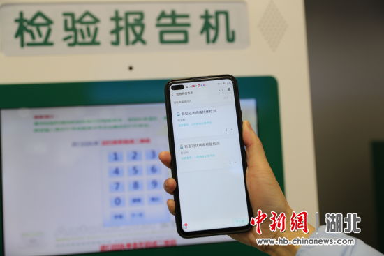 武汉市中心医院线上核酸抗体自助申请平台 马遥遥 摄