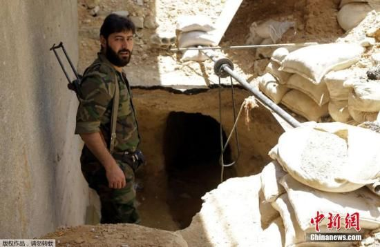 资料图:叙利亚政府军士兵。